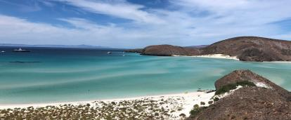 A scenic view of the coastline where our Marine Conservation Project is based in Mexico.